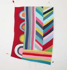 """""""Saturday morning"""" quilt by Lu Summers. Just lovely."""
