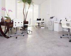 Home Office com piso em cimento