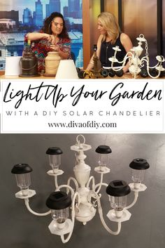 Create amazing garden lighting with this DIY solar chandelier