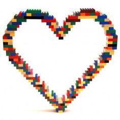 Lego heart by Nathan Sawaya