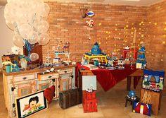Mesa muito linda e ultra criativa patra festa de aniversário com o tema Pequeno Príncipe