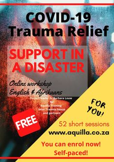 Support in a disaster online workshop in Afrikaans or Englisk Risk Management, Business Management, Effects Of Bullying, Education For All, School Community, Working With Children, Afrikaans, Trauma, Helping People