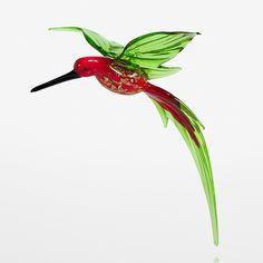 Aventurine Hummingbird by WGK Glass: Art Glass Ornament available at www.artfulhome.com