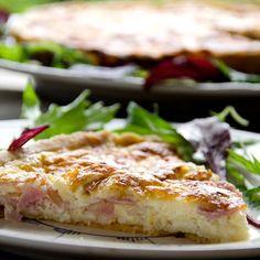 Fru Timians ost- og skinkepai