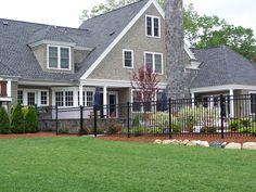 Montage style fence. Black ornamental (503)760-7725