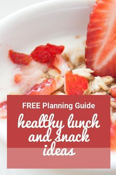 Healthy lunch and snacks for kids. Do you stress out over packing a healthy school lunch? Here's a free lunch box planning guide with healthy lunchbox ideas. Healthy School Lunches, Healthy Snacks, Healthy Kids, Healthy Living, Paleo Diet Plan, How To Eat Paleo, Paleo Recipes, Whole Food Recipes, Juicing Benefits