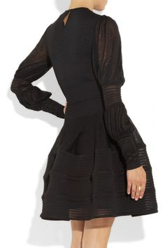 Alexander McQueen | Knitted silk dress | NET-A-PORTER.COM