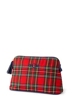 Women's Plaid Cosmetic Case