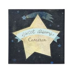 Sweet Dreams Personalized Wall Art (Blue)  | The Land of Nod