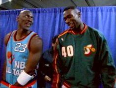 nbacardDOTnet nbacardDOTnet uploaded this image to 'zz NBA Photo Gallery/Shawn Kemp/All Star Game'. See the album on Photobucket. Jordan 23, Michael Jordan, Nba Season, Basketball Legends, Aba, All Star, Superstar, Seattle, Nike