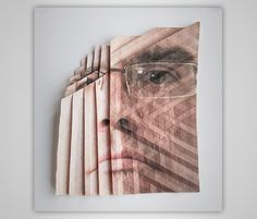 aldo tolino folds portraits into facial landscapes