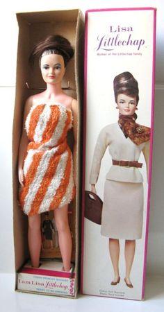 Superb Vintage Remco Lisa Littlechap doll in Box NRFB complete 1963. 37.6+3.7