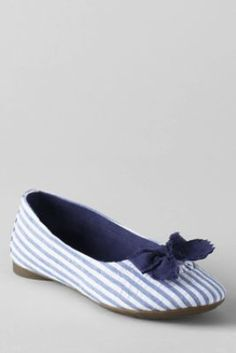 Girls' Maddie Bow Ballet shoes. Lands' End. Only 14.99!