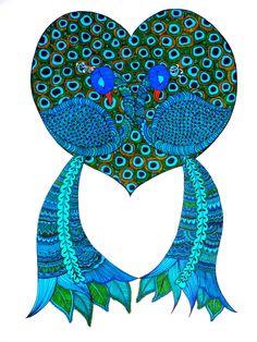 """""""Blue Peacocks"""" www.sulletraccedelbianconiglio.wordpress.com"""