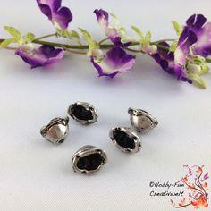 5 ovale Perlenkappen, alsilberfarben #7020 von Hobby-Fun-Creativwelt auf DaWanda.com