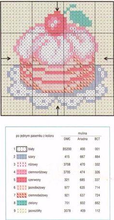 Cake cross stitch.