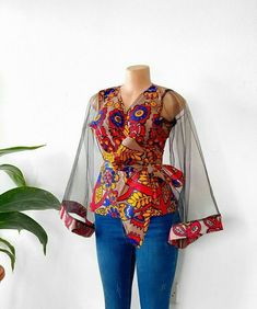 African Print Clothing, African Print Fashion, Africa Fashion, Ankara Tops Blouses, African Blouses, Ankara Peplum Tops, Ankara Blouse, African Tops, Ankara Dress Styles