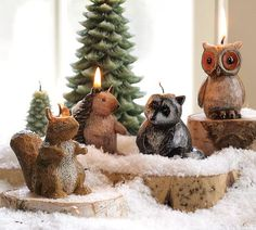Woodland Creature Candles