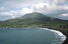 Pagan Island, the largest and one of the most volcanically active of the Northern Mariana Islands