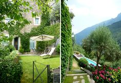 colletta di castelbianco in liguria, italy. a medieval village in the mountains, but clost to the beach with wifi.  many vacation apartment rentals and a pool.