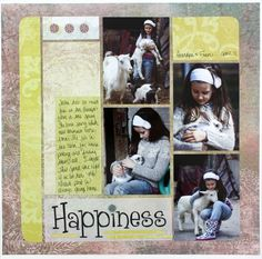 Hummingbird Scrapbook Layout