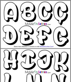 Cute Fonts Alphabet, Bubble Letter Fonts, Graffiti Lettering Alphabet, Graffiti Words, Wall Writing, Printable Letters, Memories Quotes, Lettering Styles, Lettering Tutorial