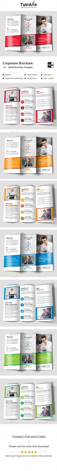 Corporate Trifold Brochure Brochure template, Template and Brochures - download brochure templates for microsoft word