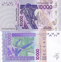 West African States 10000 Francs 2016