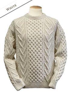 Handknit New Wool Honeycomb Stitch Sweater - Natural White