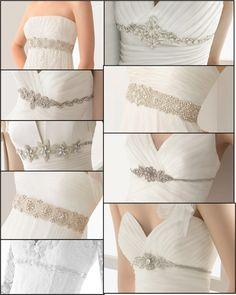 The belts and brooches of Rosa Clará - Wedding Dresses Bridal Sash, Bridal Dresses, Bridesmaid Dresses, Wedding Belts, Wedding Gowns, Dress Alterations, Wedding Dress Accessories, Fashion Mode, Brides And Bridesmaids