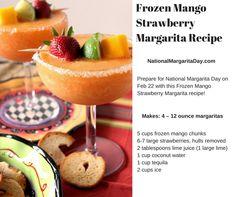 Frozen Mango Strawberry Margarita Recipe