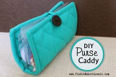 DIY Pot Holder Purse Caddy - Fun Cheap or Free. Great homemade christmas gift for kids or new moms