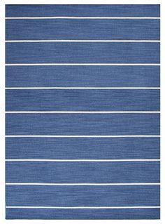 Coastal Living Dhurries Blue Stripe Rug - traditional - rugs - Wayfair