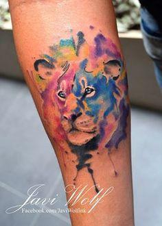 Watercolor lion! Disfruten su día de descanso! Agenda cerrada por el momento