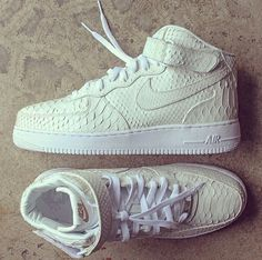 online store 302bb f3e89 shoes nike white nike air snake print creme sneaks nike air force high air  max snake skin hi-top classic nike air force 1 nike air force one 424 424  dope ...