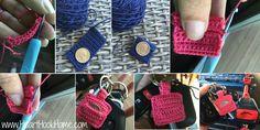 Aldi Quarter Keeper Keychain - Free Crochet Pattern