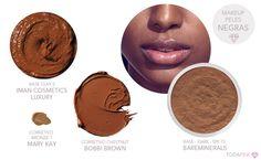 Preparação da pele para negras