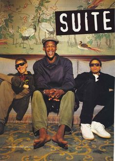 Photo taken from Vox Magazine's interview with Massive attack in September 1994. I wonder why Daddy G's barefoot in this.