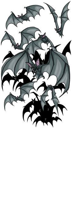 Bat Swarm by ProdigyDuck