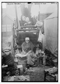 https://flic.kr/p/cEy2qm | Belgian Refugees, at Bergen-op-zoom  (LOC) | Bain News Service,, publisher.  Belgian Refugees, at Bergen-op-zoom  [between ca. 1914 and ca. 1915]  1 negative : glass ; 5 x 7 in. or smaller.  Notes:  Title from data provided by the Bain News Service on the negative. Photograph shows Belgian refugees and the Bergen Op Zoom refugee camp in the Netherlands during World War I. (Source: Flickr Commons project, 2012) Forms part of: George Grantham Bain Collection…
