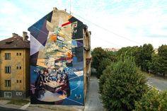 Artists : Robert Proch and Chazme. Place : Kosice, Slovakia. #streeart, #graffiti, #urban.