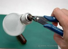 Bright Ideas for Upcycling Lightbulbs How to gut a light bulb