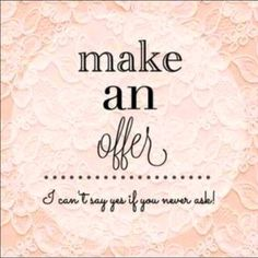 MAKE ME AN OFFER & WALK AWAY HAPPY ✨If you see something you like, but aren't happy with the price then simply make an offer using the offer button, and I will either accept or counter your offer to meet in the middle so we can both walk away happy! ✨  It's my goal to make sure all of my customers are happy with your experience while shopping in my closet. I discount new & gently used items to help you get the best deal you can, and am available to answer any questions.  Happy Poshing…