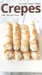 Low Carb Almond Flour Cream Cheese Crepes