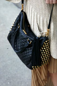 love quilted/studded bags.