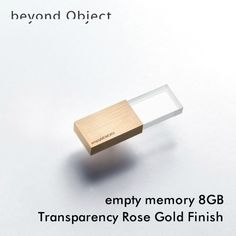 USBメモリー/empty memory 8GB Transparency Rose Gold Finish
