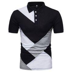 Laamei Men 2018 Summer Fashion Camisa Polo Shirts High Quality Short S – geekbuyig Camisa Polo, Camisa Slim, Shorts Casual, Mens Casual T Shirts, Men Casual, Mens Polo T Shirts, Stylish Men, Casual Outfits, Polo Shirt Brands