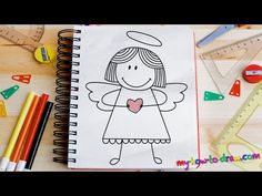 How to draw an Angel - Easy step-by-step drawing lessons for kids - YouTube