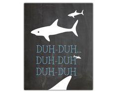 Nautical room art - shark art - child bathroom - boys room nautical - nautical printable - nautical nursery - kids bathroom decor by iamawakened on Etsy https://www.etsy.com/listing/216033416/nautical-room-art-shark-art-child
