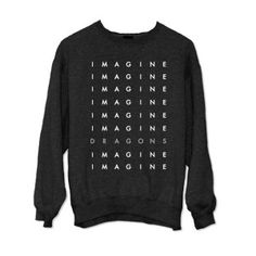 Imagine Dragons Stacked Letters Crewneck Fleece Sweater